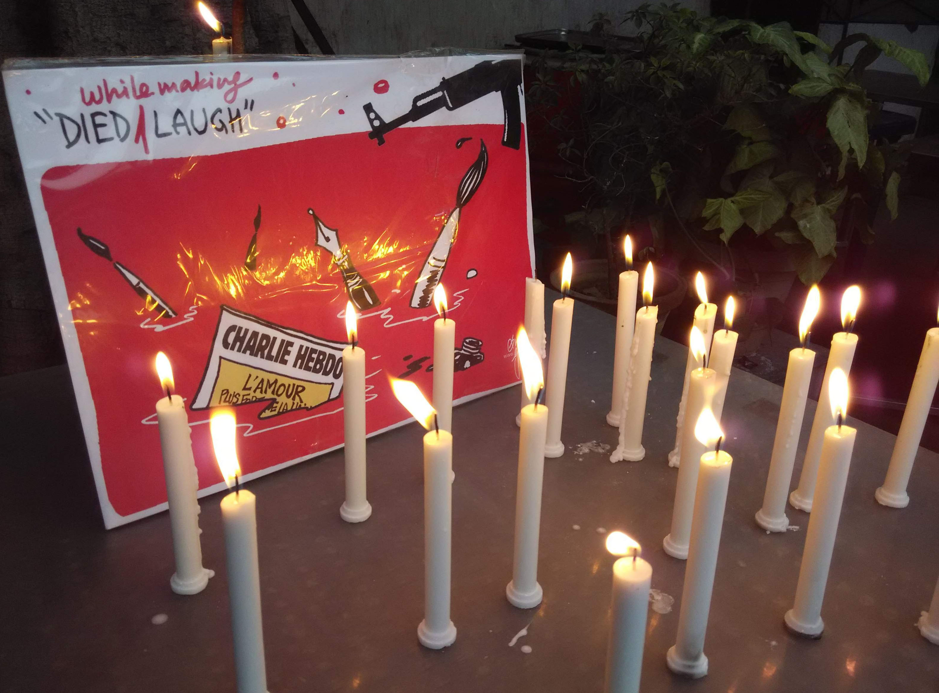 Candle Vigil for Victims of Charlie Hebdo Attack