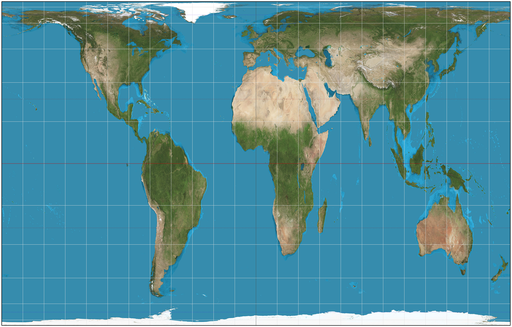 Peters Projection Map