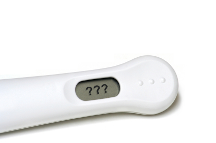 Pregnancy Test with Question Marks