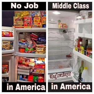 Fridges with and without food inside