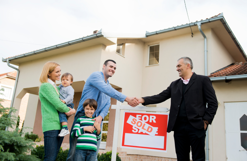 White family buying home