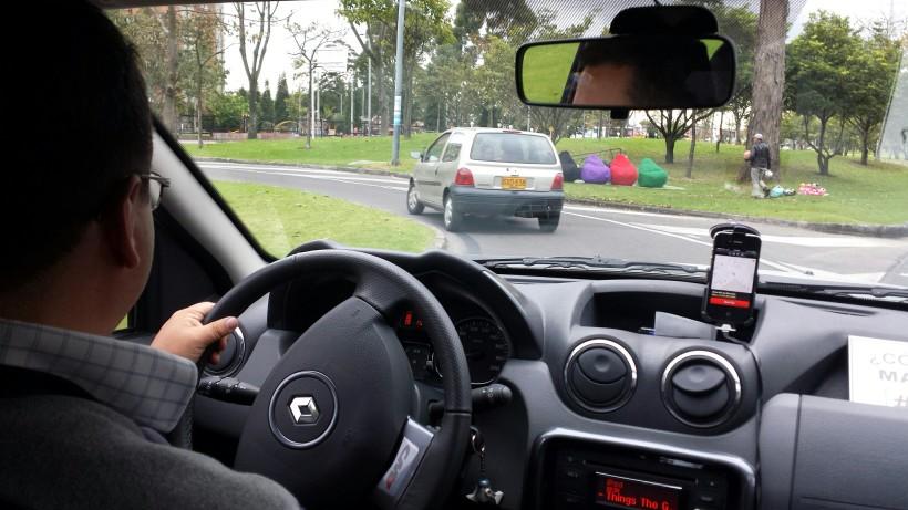 Uber Ride in Bogota