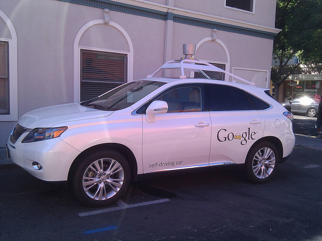 Google Self Driving Car in Mountain View