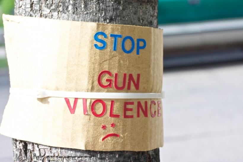 Stop Gun Violence Sad Face Sign