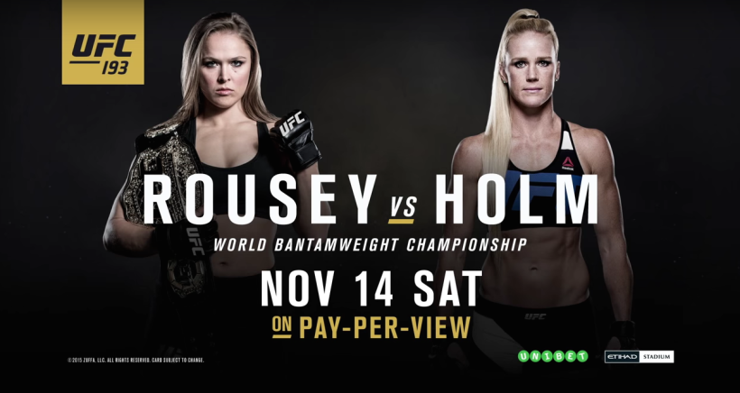 Rousey Holm Fight Card
