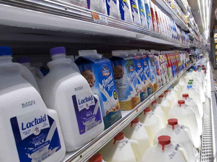 Grocery Store Milk Aisle