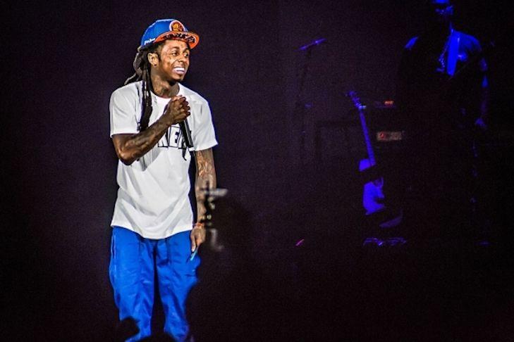 Lil Wayne Preforming on Stage